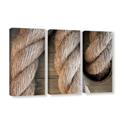 Brushstone Rope In A Hole 3-pc. Gallery Wrapped Canvas Wall Art