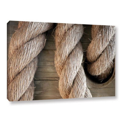 Brushstone Rope In A Hole Gallery Wrapped Canvas Wall Art