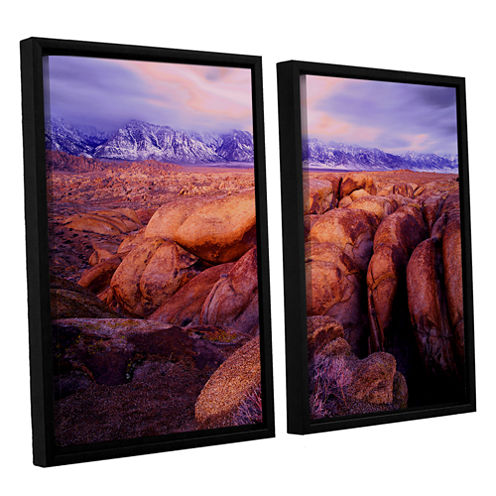 Brushstone Sierra Dawn Storm Light 2-pc. Floater Framed Canvas Wall Art