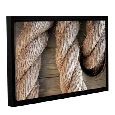 Brushstone Rope In A Hole Gallery Wrapped Floater-Framed Canvas Wall Art
