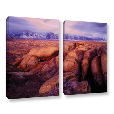 Brushstone Sierra Dawn Storm Light 2-pc. Gallery Wrapped Canvas Wall Art