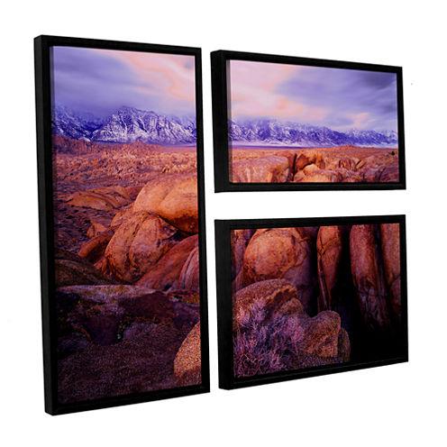Brushstone Sierra Dawn Storm Light 3-pc. Flag Floater Framed Canvas Wall Art