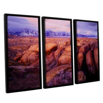 Brushstone Sierra Dawn Storm Light 3-pc. Floater Framed Canvas Wall Art
