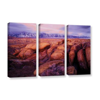 Brushstone Sierra Dawn Storm Light 3-pc. Gallery Wrapped Canvas Wall Art
