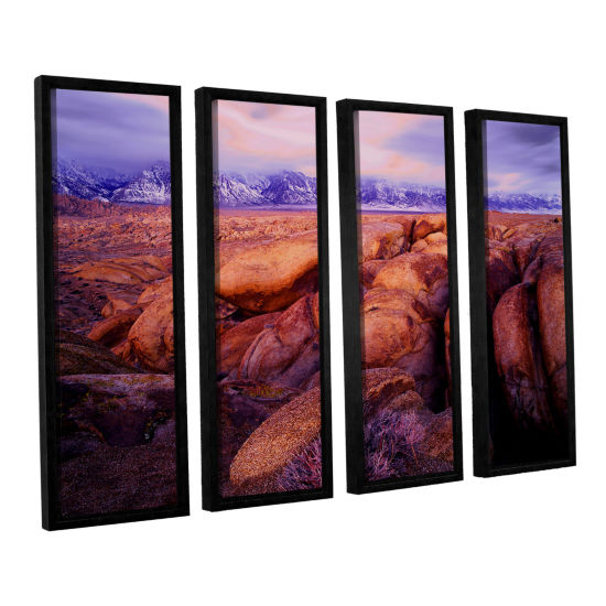 Brushstone Sierra Dawn Storm Light 4-pc. Floater Framed Canvas Wall Art