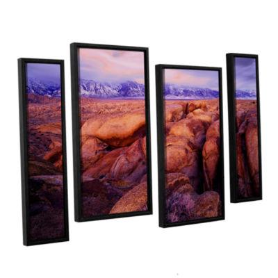 Brushstone Sierra Dawn Storm Light 4-pc. Floater Framed Staggered Canvas Wall Art