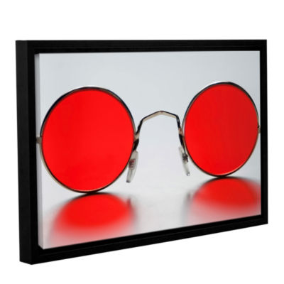 Brushstone Rose Colored Glasses Gallery Wrapped Floater-Framed Canvas Wall Art