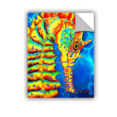 Brushstone Seahorse Removable Wall Decal