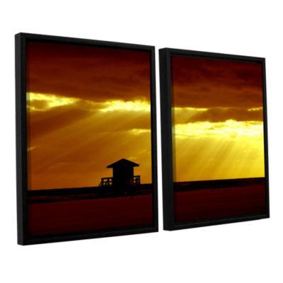 Brushstone Siesta Key 2-pc. Floater Framed CanvasWall Art