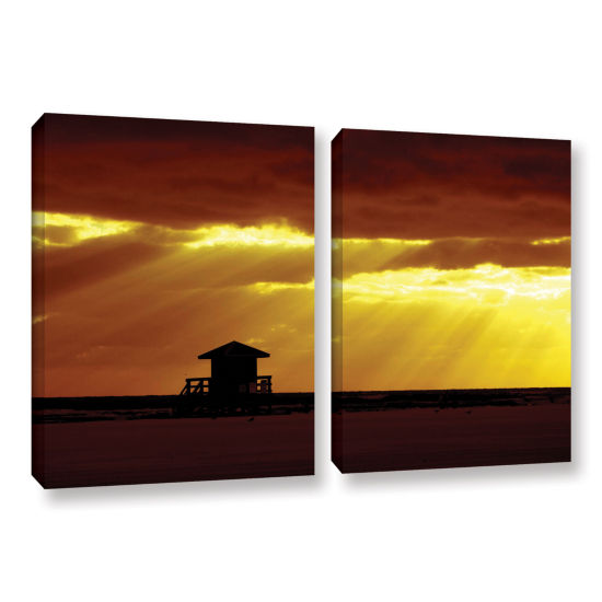 Brushstone Siesta Key 2-pc. Gallery Wrapped CanvasWall Art