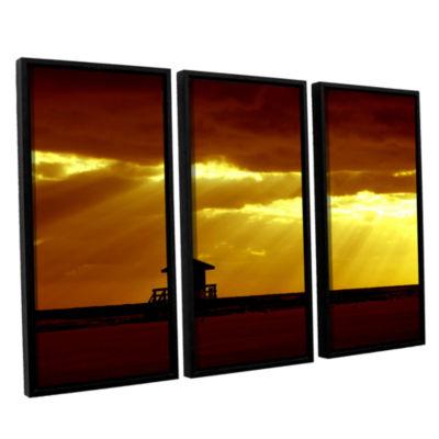 Brushstone Siesta Key 3-pc. Floater Framed CanvasWall Art