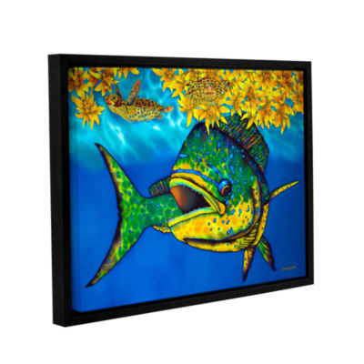 Brushstone Sargasso Heaven Gallery Wrapped Floater-Framed Canvas Wall Art