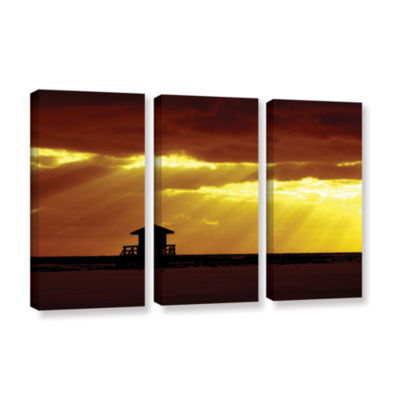 Brushstone Siesta Key 3-pc. Gallery Wrapped CanvasWall Art