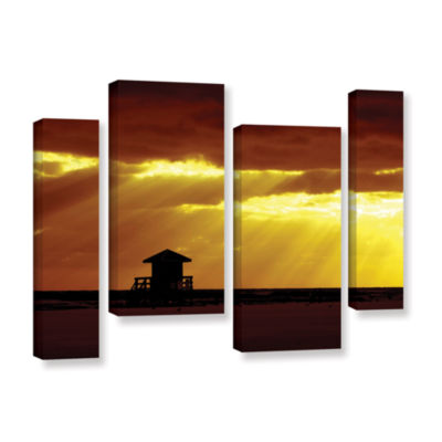 Brushstone Siesta Key 4-pc. Gallery Wrapped Staggered Canvas Wall Art