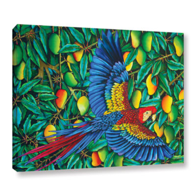 Brushstone Scarlet Macaw Gallery Wrapped Canvas Wall Art