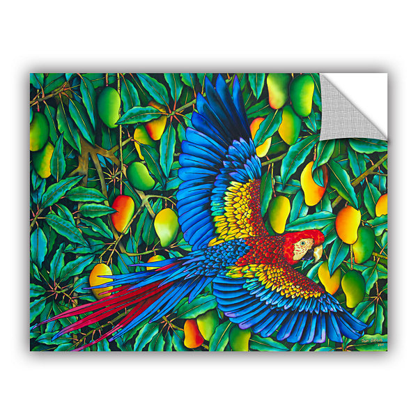 Brushstone Scarlet Macaw Removable Wall Decal