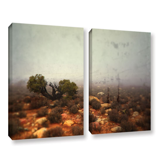 Brushstone Silent 2-pc. Gallery Wrapped Canvas Wall Art