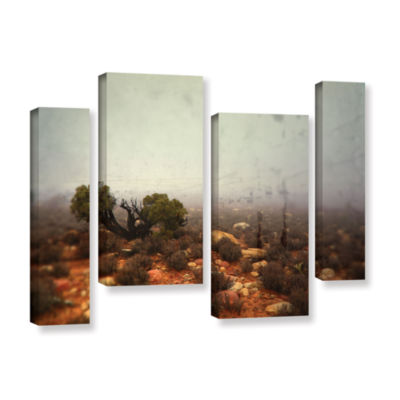Brushstone Silent 4-pc. Gallery Wrapped StaggeredCanvas Wall Art