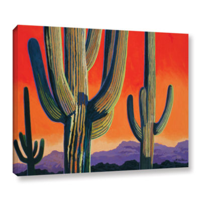 Brushstone Saguaro Dawn Gallery Wrapped Canvas Wall Art