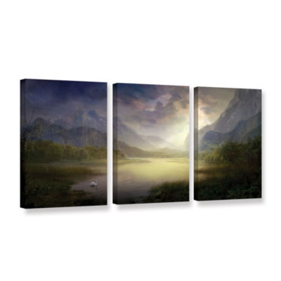 Brushstone Silent Morning 3-pc. Gallery Wrapped Canvas Wall Art