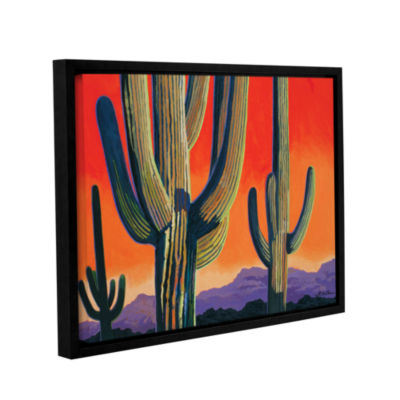 Brushstone Saguaro Dawn Gallery Wrapped Floater-Framed Canvas Wall Art