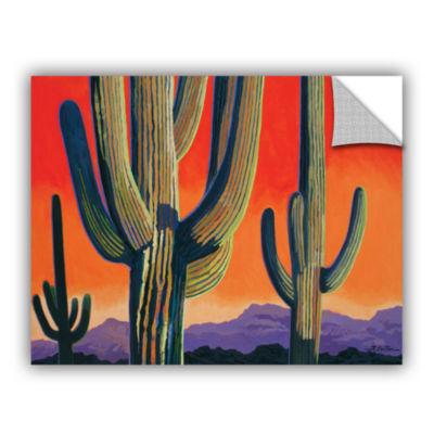 Brushstone Saguaro Dawn Removable Wall Decal