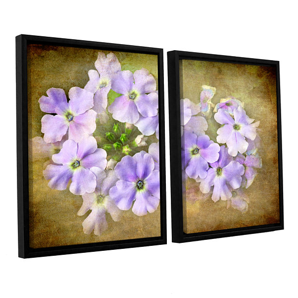 Brushstone Shades Of Violet 2-pc. Floater Framed Canvas Wall Art