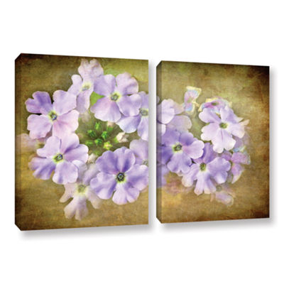 Brushstone Shades Of Violet 2-pc. Gallery WrappedCanvas Wall Art