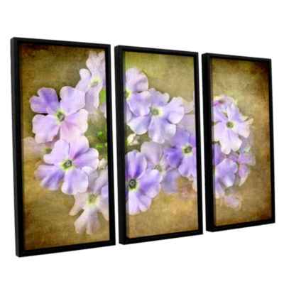 Brushstone Shades Of Violet 3-pc. Floater Framed Canvas Wall Art