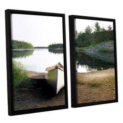 Brushstone Silent Retreat 1 2-pc. Floater Framed Canvas Wall Art