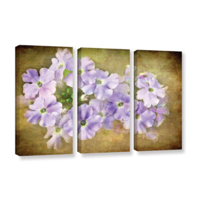 Brushstone Shades Of Violet 3-pc. Gallery WrappedCanvas Wall Art