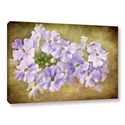 Brushstone Shades Of Violet Gallery Wrapped CanvasWall Art