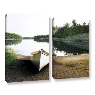 Brushstone Silent Retreat 1 2-pc. Gallery WrappedCanvas Wall Art