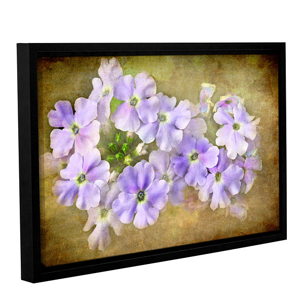 Brushstone Shades Of Violet Gallery Wrapped Floater-Framed Canvas Wall Art