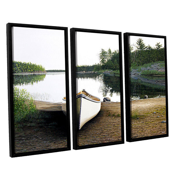 Brushstone Silent Retreat 1 3-pc. Floater Framed Canvas Wall Art