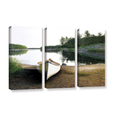 Brushstone Silent Retreat 1 3-pc. Gallery WrappedCanvas Wall Art