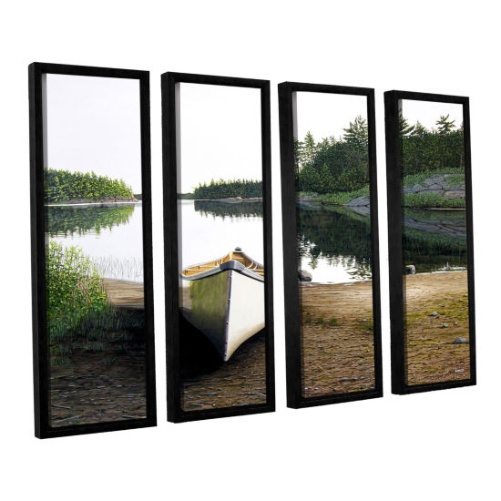 Brushstone Silent Retreat 1 4-pc. Floater Framed Canvas Wall Art