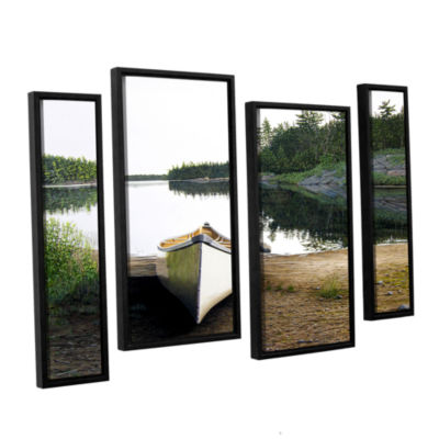 Brushstone Silent Retreat 1 4-pc. Floater Framed Staggered Canvas Wall Art