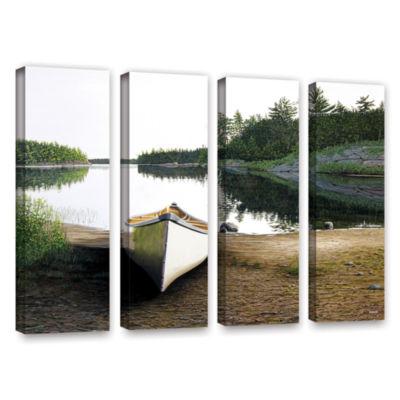 Brushstone Silent Retreat 1 4-pc. Gallery WrappedCanvas Wall Art
