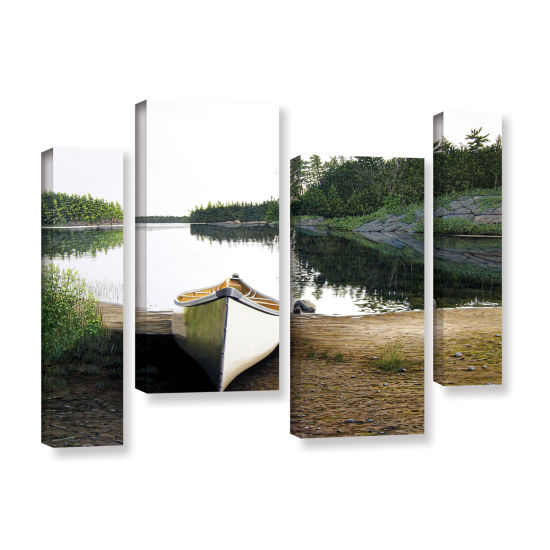 Brushstone Silent Retreat 1 4-pc. Gallery WrappedStaggered Canvas Wall Art