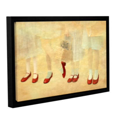 Brushstone Ruby Slippers Gallery Wrapped Floater-Framed Canvas Wall Art