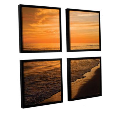 Brushstone Serene Sunset 4-pc. Square Floater Framed Canvas Wall Art