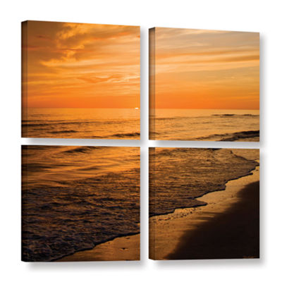 Brushstone Serene Sunset 4-pc. Square Gallery Wrapped Canvas Wall Art