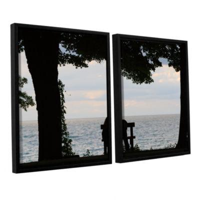 Brushstone Silhouette 2-pc. Floater Framed CanvasWall Art