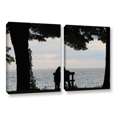 Brushstone Silhouette 2-pc. Gallery Wrapped CanvasWall Art