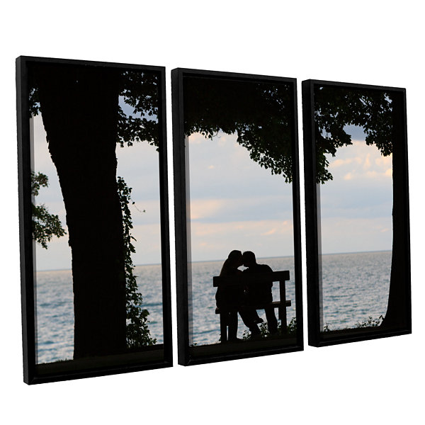 Brushstone Silhouette 3-pc. Floater Framed CanvasWall Art