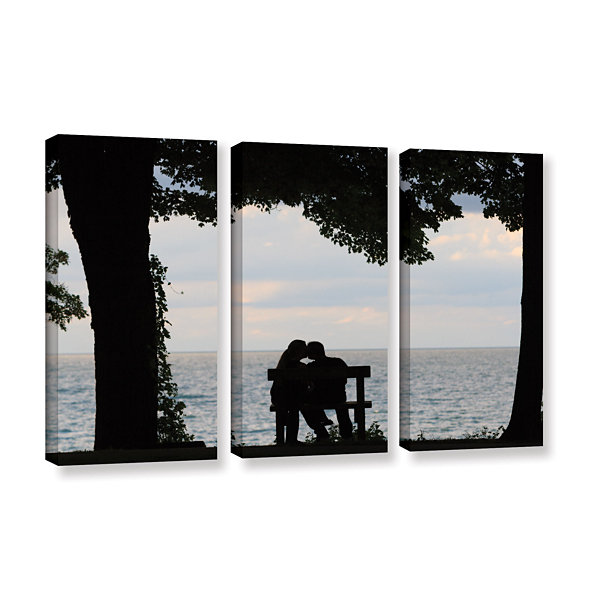 Brushstone Silhouette 3-pc. Gallery Wrapped CanvasWall Art