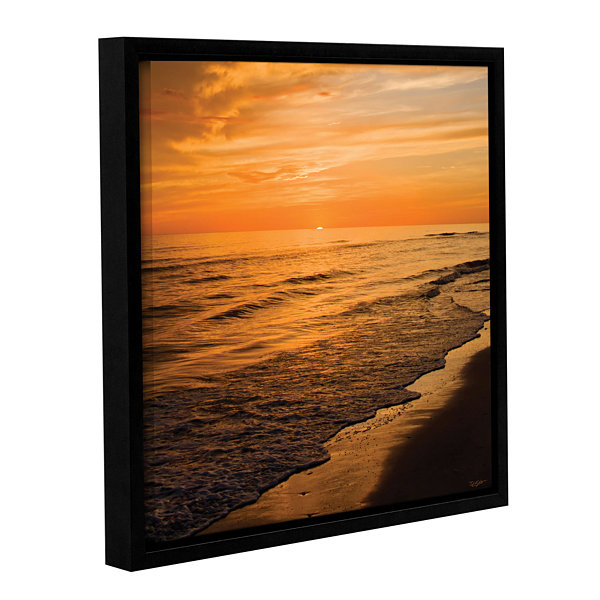 Brushstone Serene Sunset Gallery Wrapped Floater-Framed Canvas Wall Art