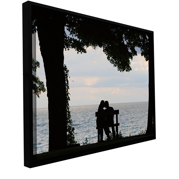 Brushstone Silhouette Gallery Wrapped Floater-Framed Canvas Wall Art