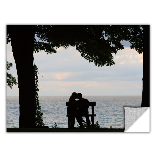 Brushstone Silhouette Removable Wall Decal